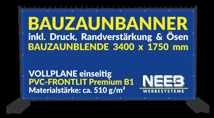 Bauzaunbanner Druck Frontlit 510 Premium B1