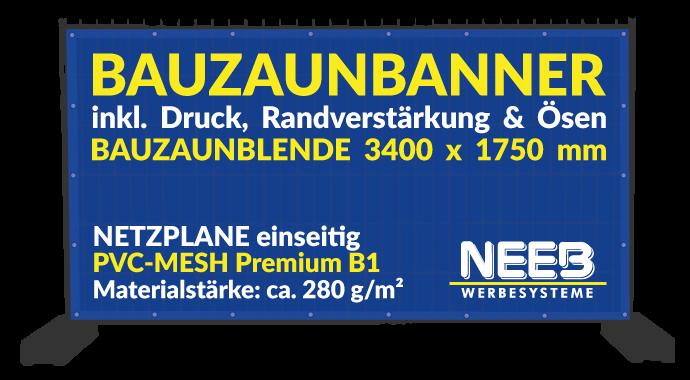 Bauzaunbanner Druck Mesh 280 Premium  B1