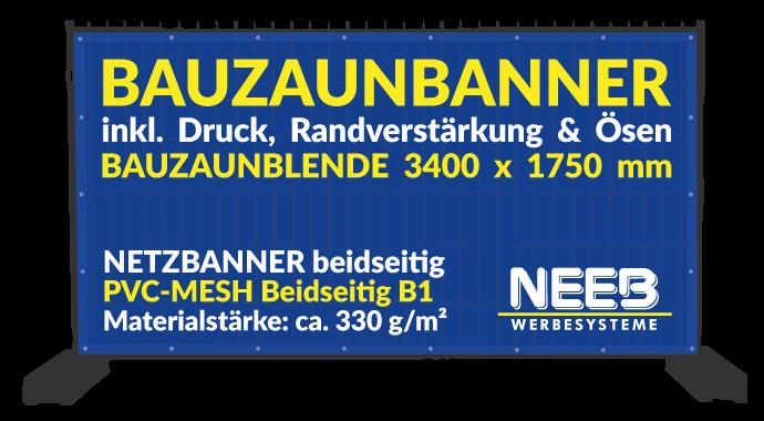 Bauzaunbanner Druck Meshbanner 330 Beidseitig Premium B1