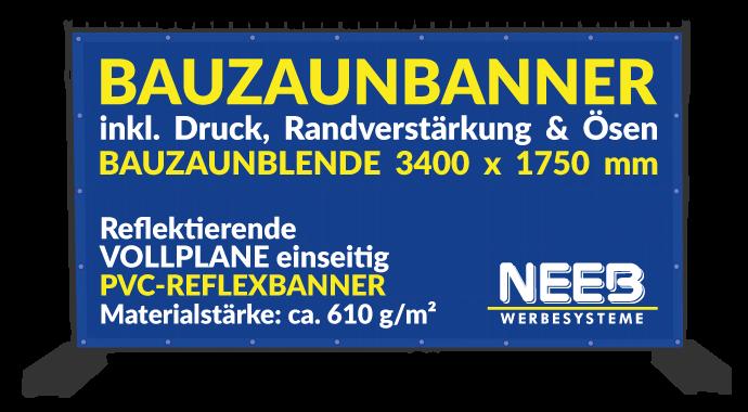 Bauzaunbanner Druck Reflexbanner 610