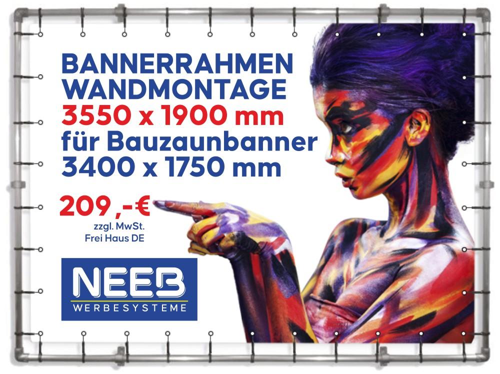 Alu-Bannerrahmen-Wandmontage-Bauzaunbanner-3550-x-1990-mm