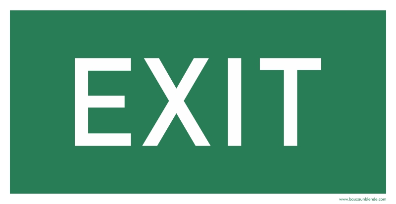 Bauzaunbanner_Notausgang_Bauzaunblende_exit