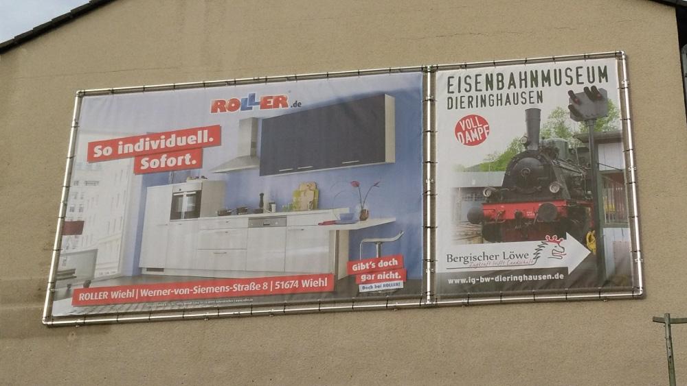 Bannerrahmen Wand Geteilt Für 2 Bannerdrucke