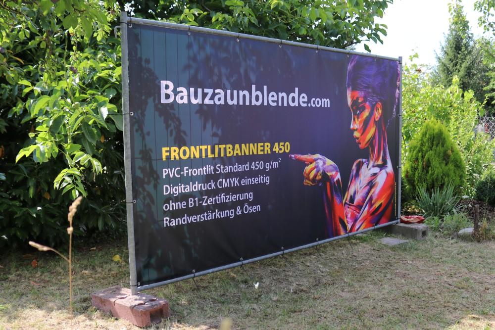 Bauzaunbanner Druck – Meshbanner, Vollplane & Stoff