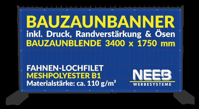 Bauzaunbanner Druck Fahnen-Lochfilet 110 Meshpolyester Bauzaunblende