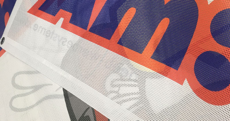 Meshbanner Beidseitig Bedruckte Gitternetzplane Premium B1 Detail